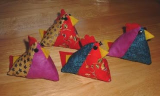 funky chicken pin cushion