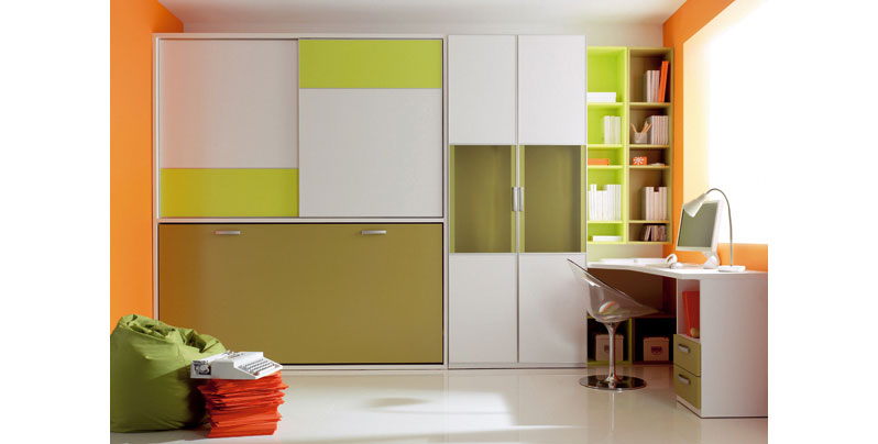 Cama abatible con armario encima for Diferentes tipos de muebles