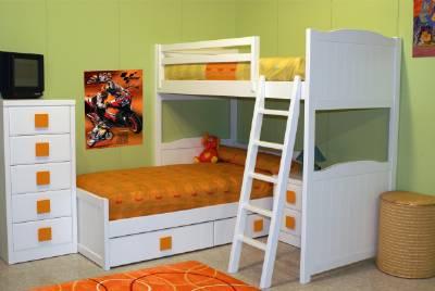Camas dobles y triples para dormitorios juveniles e infantiles - Dormitorios infantiles literas ...