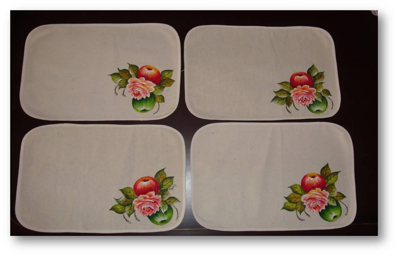 Pintura artesanal manteles repasadores de cocina - Manteles de tela ...