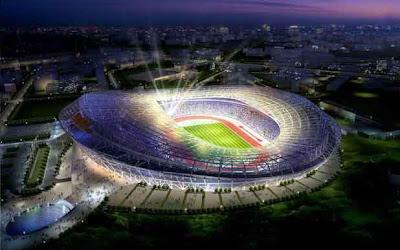 Проект реконструкции Олимпийского стадиона в Киеве для проведения ЕВРО-2012