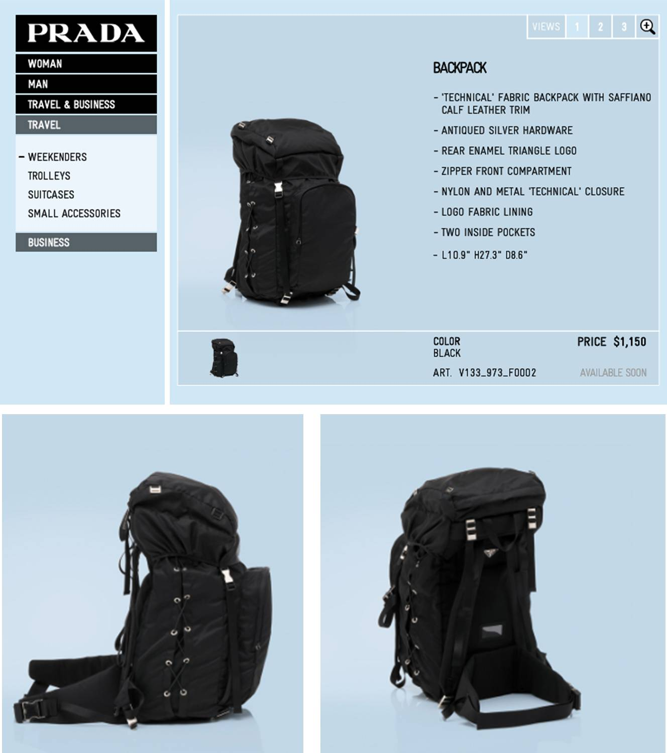 44e38cd11829 laptop in a prada: the chicest hiking backpack in the world