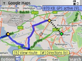 Google Maps Symbian