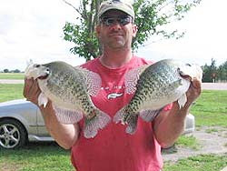 Lake Tom Steed crappie caught by Mike Diehl