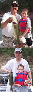 Father and Son fishing at Lake Broken Bow Oklahoma