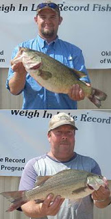 Lake Thunderbird Oklahoma bass fishing records
