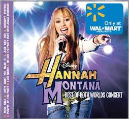 Hannah Monata y Miley Cyrus en concierto