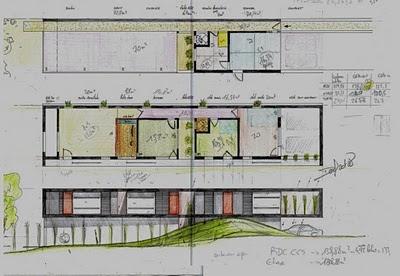 id e plan maison en longueur. Black Bedroom Furniture Sets. Home Design Ideas