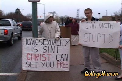 I'm With Stupid (Homophobes)