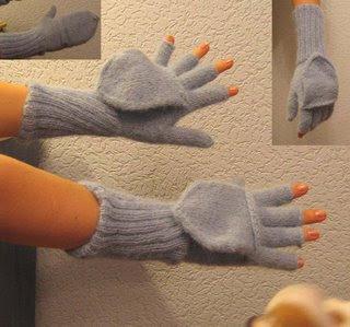 Варежки с пальчиками