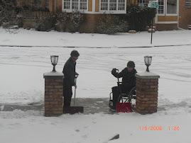 Tanner Shoveling Snow