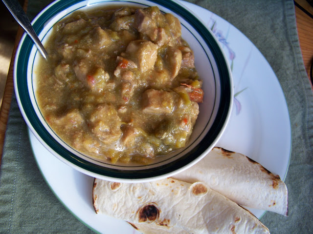 Chile Verde with Tortillas
