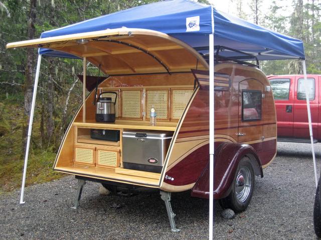 Built With A Shopsmith Teardrop Travel Trailer