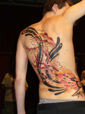 Japanese Phoenix Tattoo Design For Men(1)