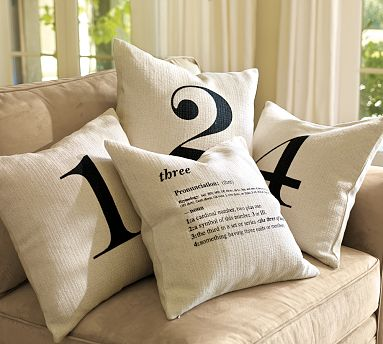 Pottery Barn Inspired Number Pillows Amp A Giveaway