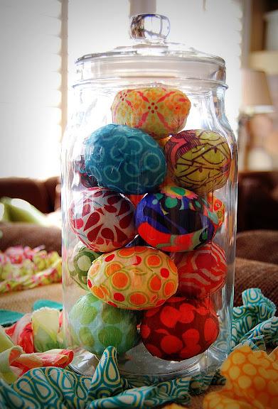 Decoupage Fabric Eggs - Tatertots & Jello