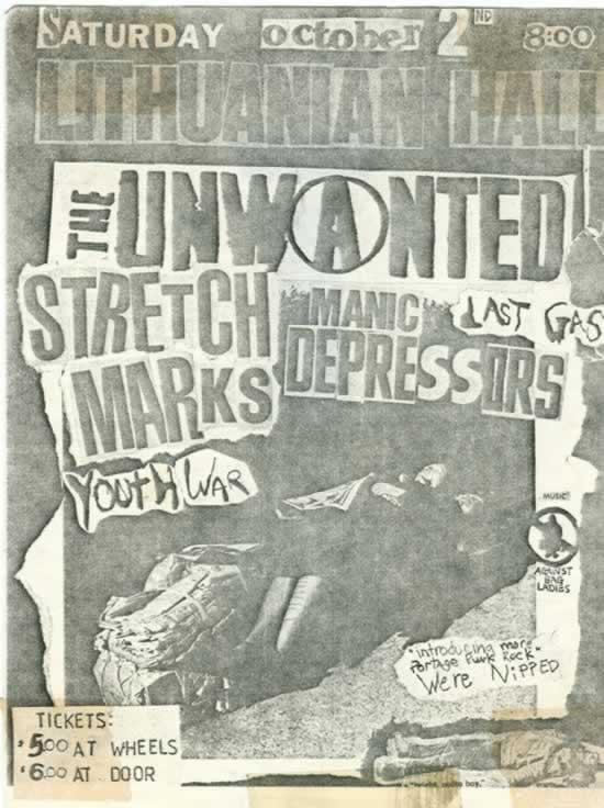 Equalizing Distort Flyer Saturday October 2 1982