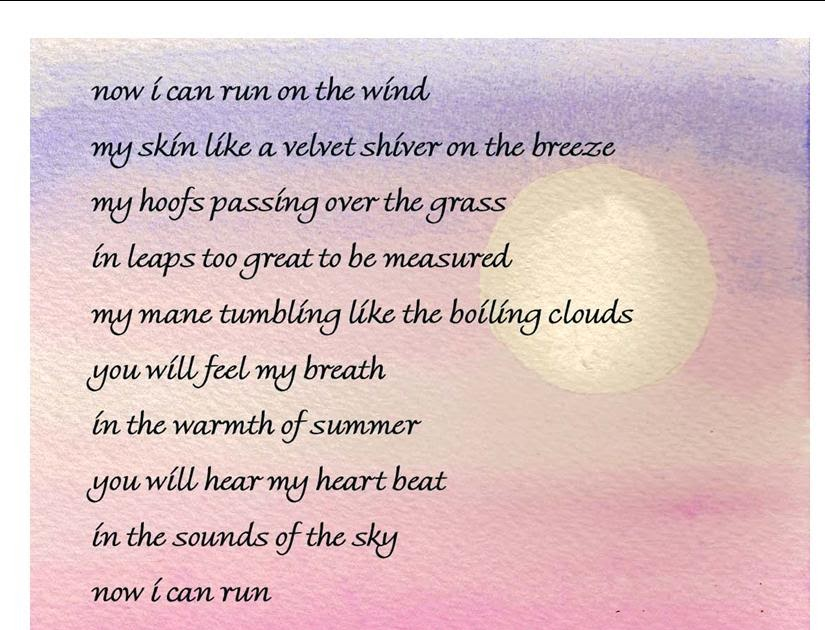 Cliffy S Mom S Blog Quot Now I Can Run Quot Equine Sympathy Poem