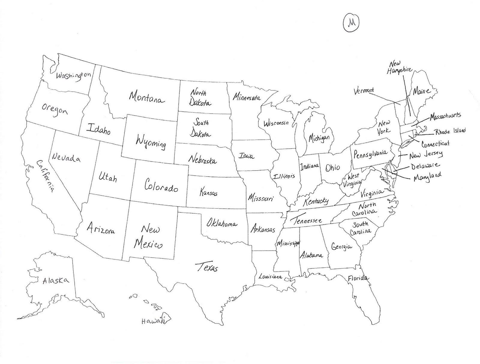 8th Grade U S History Map Quiz 1