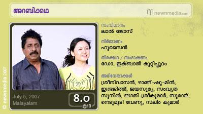 Arabikkatha: A film by Lal Jose starring Sreenivasan, Zhang Chu Min, Jayasurya, Indrajith, Samvrutha Sunil etc. Film Review by Haree for Chithravishesham.