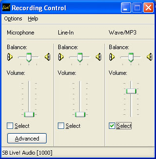 Sound Recording using Audacity