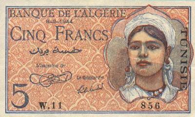 La monnaie (les billets) tunisienne à travers le temps TunisiaP15-5Francs-1944-donatedowl_f