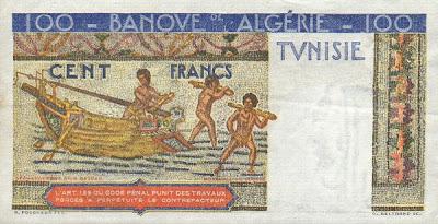 La monnaie (les billets) tunisienne à travers le temps TunisiaP24-100Francs-1947-donatedowl_b