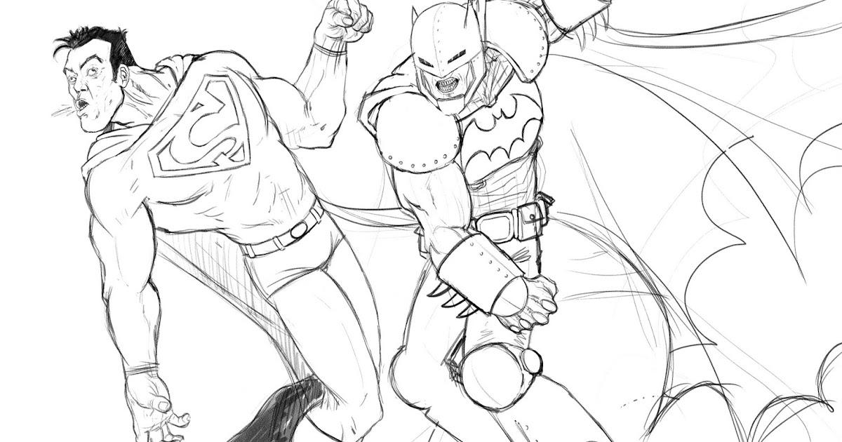 Dibujos Para Colorear Superman Y Batman Imagesacolorier