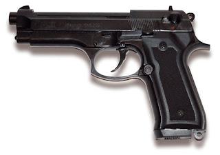 GUNS: - Blank firing gun Norica Magnum F92