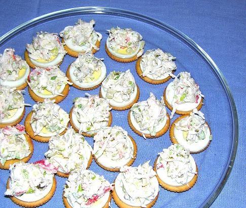 Cookbook beolnara cookbook crab meat canap hors for Canape cookbook