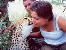 lady with big cat