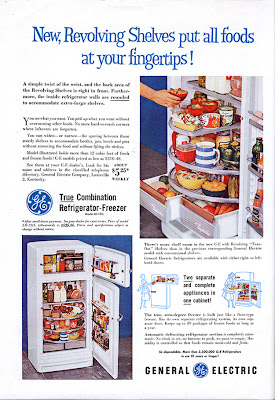 Interesting Vintage Advertisement of General Electric refrigerator