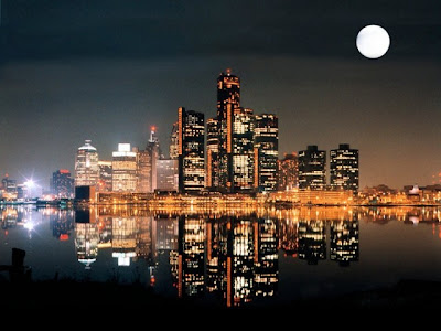 Detroit at  night