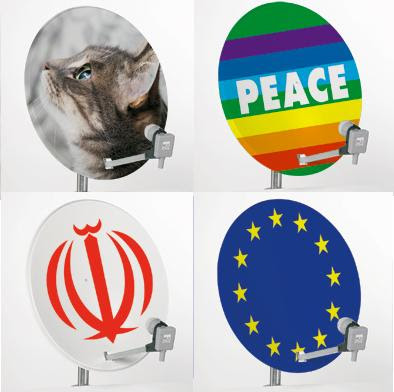Satellite Dish Stickers (1) 2