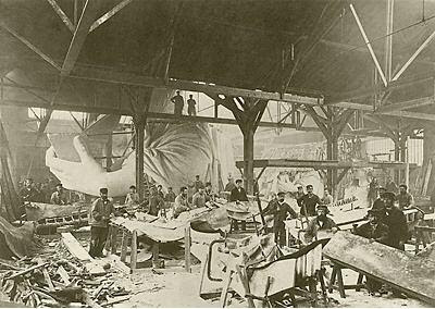 Statue of Liberty under construction (2) 2