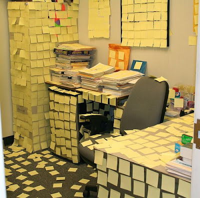 post-it notes prank