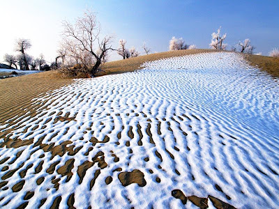 Snow In Desert