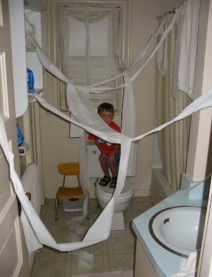 Fun with toilet rolls