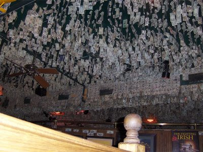 Ceiling & wall made of currency notes