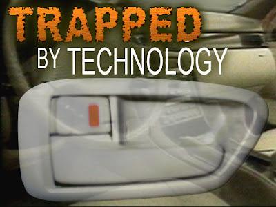 Women gets locked in her car