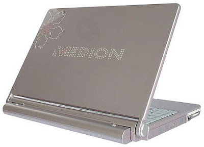 Laptop Bejeweled With 300 Swarovski Crystals