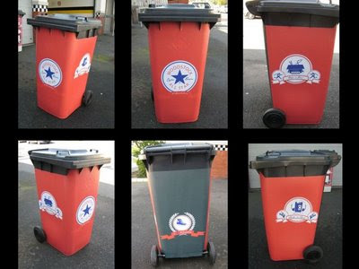 Woodstock's Five Black Bins (6) 6
