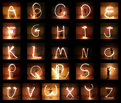 Light Writing Alphabet