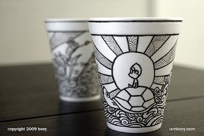 Art On Styrofoam Cups (11) 8