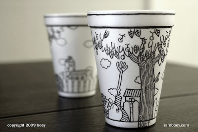 Art On Styrofoam Cups (11) 10