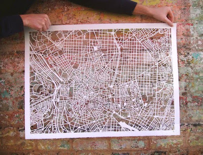 11 Creative and Cool Hand Cut Paper Maps (11) 3