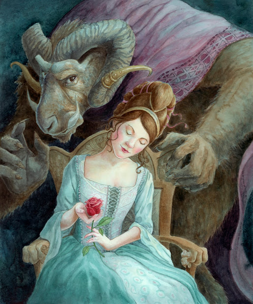 Beauty and the Beast Fairy Tale Illustration