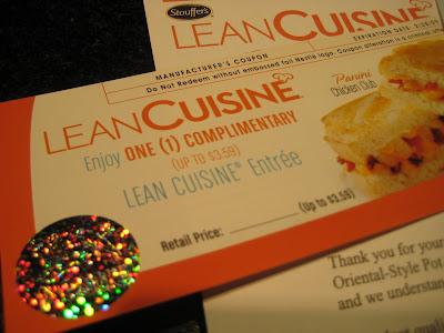 Lean Cuisine Coupons. thank you Lean Cuisine!