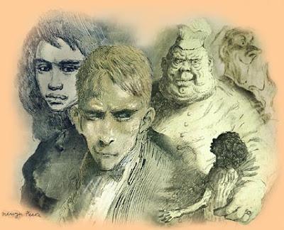 Titus d'Enfer - Mervyn Peake dans Littérature gormenghast