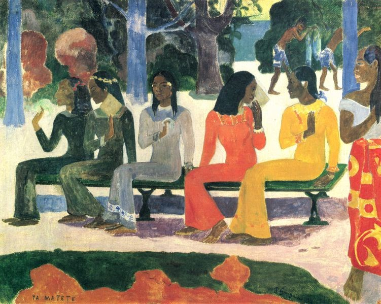 Gauguin Fan We Shall Not Go To Market Today 1892